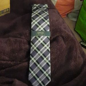 Plaid Print Purple Men's Tie